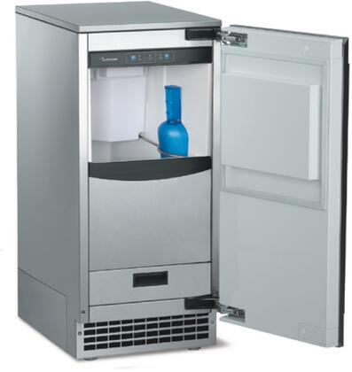 "Scotsman SCN60GA1Sx 15"" Brilliance Ice Machine with Gravity Drain, 80 lbs. Daily Ice Production, 26 lbs. Storage Capacity, Nugget Ice Cubes, and Self-closing Door, in"