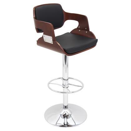 "LumiSource Fiore BS-JY-FR 38"" - 43"" Barstool with 360 Degree Swivel, Hydraulic Height Adjustment and PU Upholstery in"