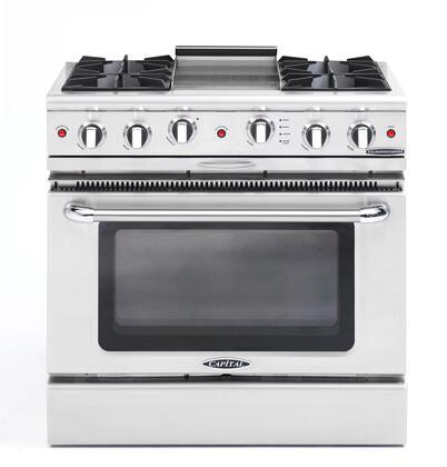 "Capital CGSR362G2L 36"" Culinarian Series Gas Freestanding"