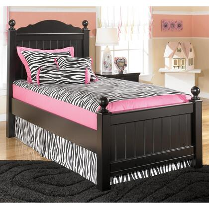 Signature Design by Ashley B150-POSTER Jaidyn Collection Size Youth Poster Bed: Black