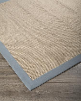 "Signature Design by Ashley Ebenezer R40003 "" x "" Size Rug with Solid Border Design, Hand-Loomed, Cotton Material Backed with Cotton and Jute Blend in Light Blue Color"