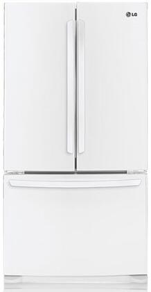 LG LFC25776SW  French Door Refrigerator with 25 cu. ft. Total Capacity 4 Glass Shelves