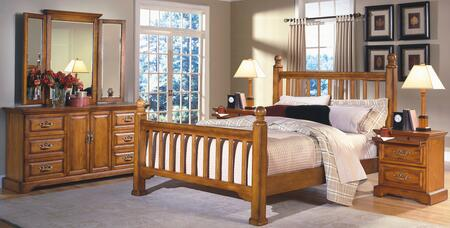 New Classic Home Furnishings 1133EPBDMNN Honey Creek King Be