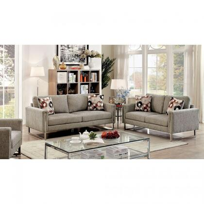 Furniture Of America Cm6855sf Lauren Ii Series Chenille Sofa Appliances Connection