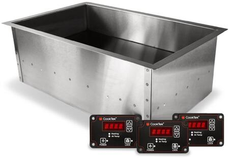 CookTek SinAqua Waterless Food Warming System with Multiple Individual Induction Zones, Automatic Timer, Lock Functionality, Multiple Standard Temperature Settings and Red LED Display For Easy Control