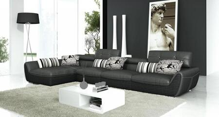 VIG Furniture T186  Sofa and Chaise Leather Sofa