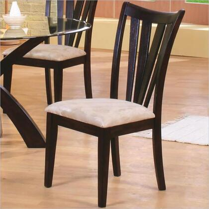 Coaster 101072 Shoemaker Series Casual Microfiber Wood Frame Dining Room Chair