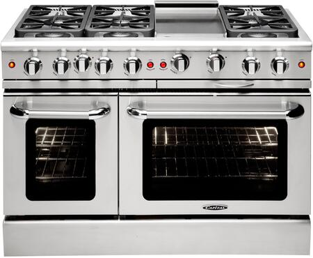 "Capital MCR486GN 48"" Gas Freestanding Range with 4.6 cu. ft. Primary Oven Capacity, in Stainless Steel"