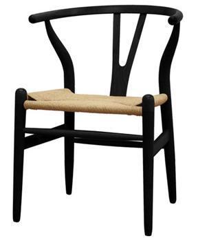 Wholesale Interiors DC541BLACK Wishbone Series  Accent Chair