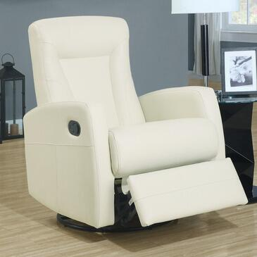 Monarch I8082IV Transitional Bonded Leather Wood Frame Rocking Recliners