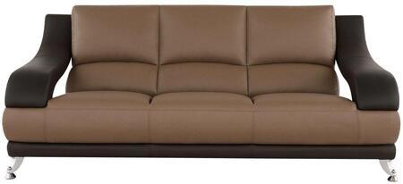 Global Furniture USA U982RVTBRS  Bonded Leather Sofa