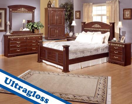 Sandberg 174B Renaissance Marble California King Bedroom Set