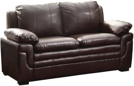 Glory Furniture G285L Faux Leather Stationary with Wood Frame Loveseat