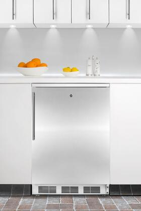 Summit FF6L7BISSHV  Compact Refrigerator with 5.5 cu. ft. Capacity in Stainless Steel