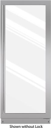 "Sub-Zero 7007XXX 8X"" X Hinge Stainless Steel Glass Door Panel with X Handle"