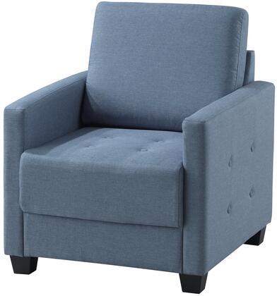 Glory Furniture G774C Fabric Armchair in Sky Blue