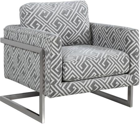 Donny Osmond Home 902786 Accent Seating Series Armchair Fabric Metal Frame Accent Chair