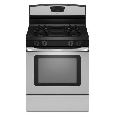 Amana AGR6011VDS  Gas Freestanding Range with Sealed Burner Cooktop, 5.0 cu. ft. Primary Oven Capacity, Storage in Stainless Steel