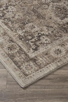 """Signature Design by Ashley Geovanni R40114 """" x """" Size Rug with Moroccan Frets Design, Machine-Woven, 10mm Pile Height, Spot Clean Only and Polyester Material in Stone and Taupe Color"""