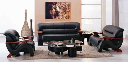 VIG Furniture VGEV2033BLK Modern Leather Living Room Set