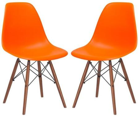 EdgeMod EM105WALORAX2 Vortex Series Modern Wood Frame Dining Room Chair
