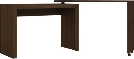 "Accentuations Calabria Collection 33AMCXX 47"" Nested L-Shaped Desk with 2 Casters in"