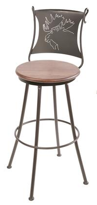 Stone County Ironworks 904001FAUXOBE Bull Moose Series  Bar Stool