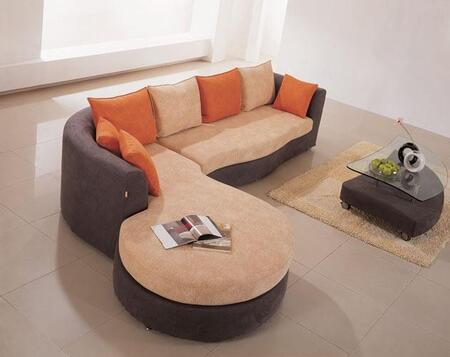 VIG Furniture VGHOK66A  Sofa and Chaise Fabric Sofa