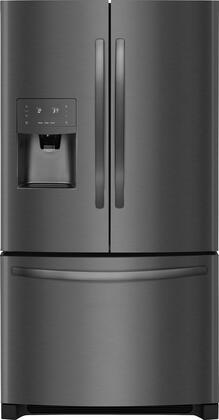 "Frigidaire FFHB2750Tx 36"" Energy Star Freestanding French Door Refrigerator with 26.8 cu. ft. Total Capacity, PureSource Ultra II Ice & Water Filtration, Ice Maker, and Full-Width Cool-Zone Drawer, in"