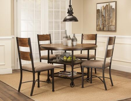 Sunset Trading CRW3075665PC Rustic Elm Industrial Dining Roo