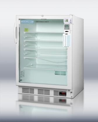 Summit SCR600LBIMEDSCADA AccuCold Series Freestanding Counter Depth Compact Refrigerator with 5.5 cu. ft. Capacity, 5 Glass ShelvesField Reversible Doors