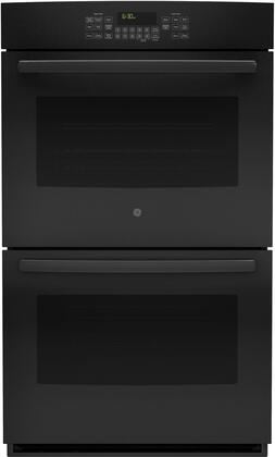 """GE JT5500 30"""" Built-In Double Wall Oven with True European Convection, Self-clean with Steam Clean Option, 5 Total Oven Racks, and 10 cu. ft. Total Oven Capacity, in"""