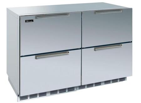 Perlick HP48FRS55DNU Signature Series Counter Depth Side by Side Refrigerator with 12.3 cu. ft. Capacity in Stainless Steel