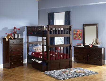 Atlantic Furniture YBBCOLORADOTWINTWINALAW Windsor Series  Twin/Twin Size Bed