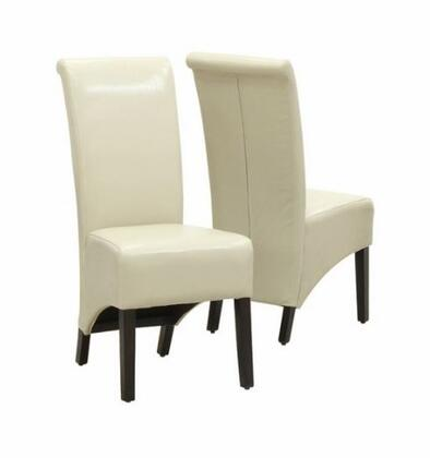 Monarch I1777TP Armchair Faux Leather Wood Frame Accent Chair