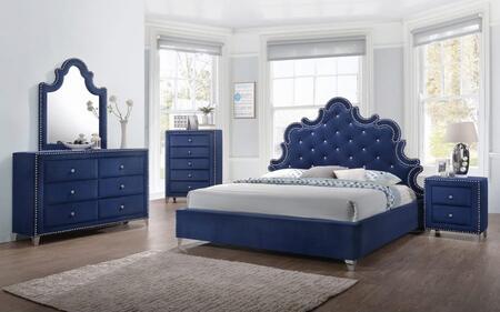 Meridian CAROLINEQPBDMN Caroline Queen Bedroom Sets