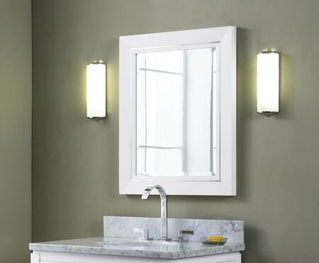 Xylem MMANHATTAN20WT  Rectangular Portrait Bathroom Mirror