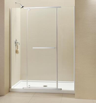 """DreamLine SHDR-21 Vitreo-X Frameless Clear 3/8"""" Glass Pivot Shower Door in"""