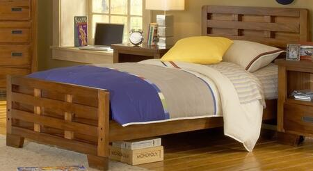 American Woodcrafters 180033CPB  Twin Size Captains Bed