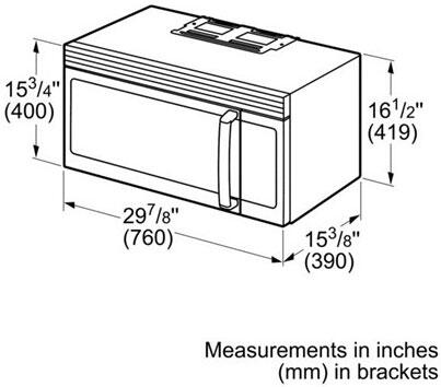 Bosch 300 Series Dimensions