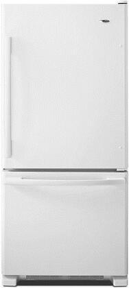 "Amana ABB1924BR 30"" 18.7 cu. ft. Bottom-Freezer Refrigerator, with Energy Star, Gallon Door Storage, Spillsaver Glass Shelves, Reversible Door Swing, and Freshness Controls"