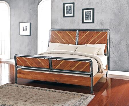 Legends Furniture Steampunk Collection ZSPK-700BED Panel Bed in Chestnut Finish