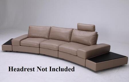 VIG Furniture VGKK1295BOLATTE Modern Leather Living Room Set