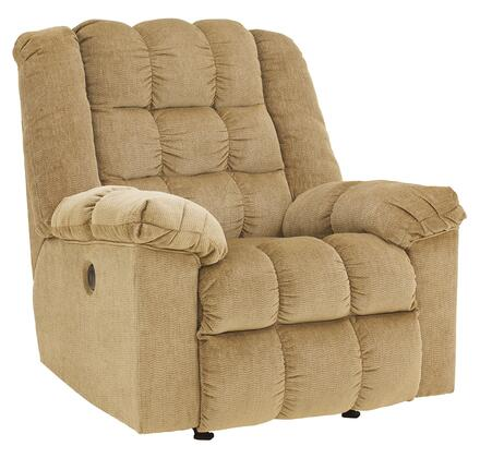 Signature Design by Ashley Ludden 8110X98 Power Rocker Recliner with Plush Pillow Top Arms, Supportive Divided Back Cushion and Button To Activate Reclining Mechanism in