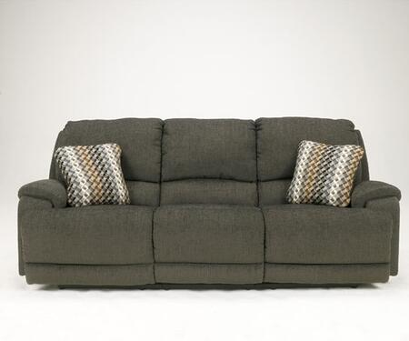 Signature Design by Ashley 8970202 Herztio - Steel Series  Fabric Sofa