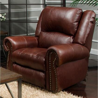 """Catnapper Messina Collection 41"""" Power Lay Flat Recliner with Control Panel Technology, Top Grain Italian Leather and Leather Match Upholstery"""