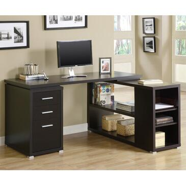 Monarch I7019 Transitional L-Shape Office Desk