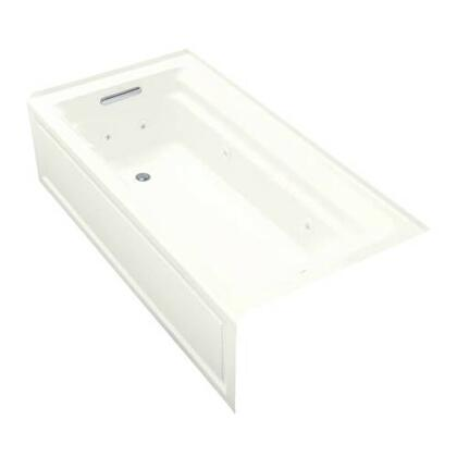 """Kohler K-1124 Archer Collection 72"""" Three Wall Alcove Jetted Bath Tub with:"""