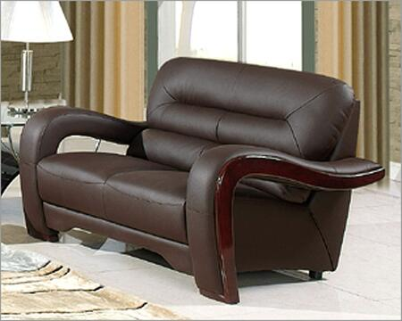 Global Furniture USA 992RVBRL Ultra Bounded Leather  with Wood Frame Loveseat