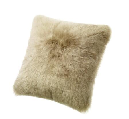 "Auskin Auskin CLS50F 20"" Square Sheepskin Wool Cushion in"